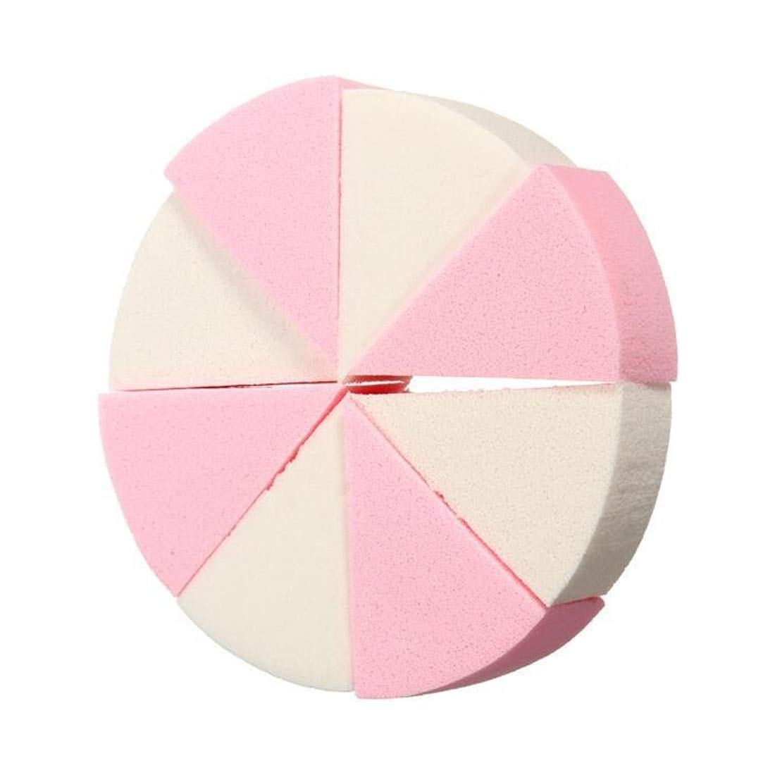 8PCS/Pack Triangle Shaped Candy Color Soft Magic Face Cleaning Pad Puff Cosmetic Puff Clean Sponge Wash Face Makeup Sponge uu19ee