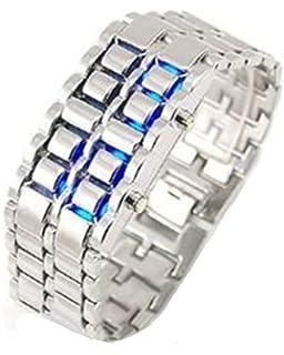 Moderne armbanduhr  LAVA Watch Uhr Edelstahl LED Armbanduhr Herren Unisex Schwarz ...
