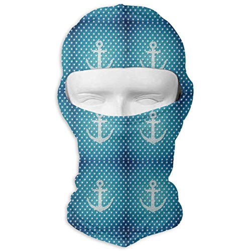 O-X_X-O Nautical Anchor Dot Star Polyester Neck Warmer Multipurpose Outdoor Sports Sunscreen Windproof & Dust Neck Gaiter Tube Ear Warmer Balaclava Headband & Face Mask for $<!--$13.99-->