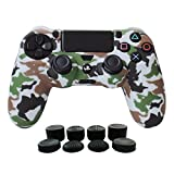 Cheap Hikfly Silicone Gel Controller Cover Protector Kits for Sony PS4 /PS4 Slim/PS4 Pro Controller Video Games(1 x Controller Cover with 8 x FPS Pro Thumb Grip Caps)(White)