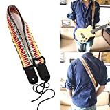 amiciKart® Adjustable Classic Style Guitar Strap Length 75-130cm Guitar Belt Electric Strap