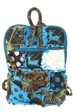 Amazon.com | Cute! Patchwork Camo Deer Small Backpack Purse Blue ...