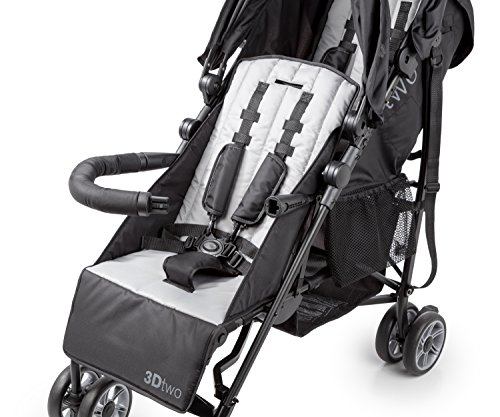 Summer Infant 3Dtwo Double Convenience Stroller, Gray Squared by Summer Infant (Image #4)