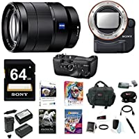 Sony 24-70mm f/4 Zoom Lens, VGC99AM Battery Grip, LAEA4 Mount Adapter Bundle