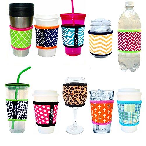 Joe Jacket Drink Insulator, Coffee Sleeve, Cup Grip, Black (many colors avail.)