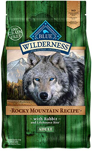 Blue Buffalo Wilderness Rocky Mountain Recipe High Protein Grain Free, Natural Adult Dry Dog Food, Rabbit 4-lb