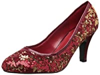 Bordello by Pleaser Women's Ravish-08Sq Pump,Red Sequins,7 M US