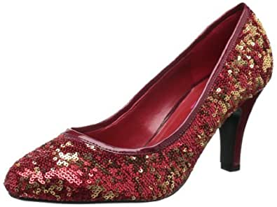 Bordello by Pleaser Women's Ravish-08Sq Pump,Red Sequins,6 M US