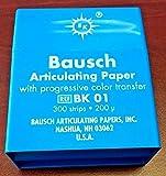 Bausch Articulating Papers BK01 Articulating Paper Pre-Cut Strips Blue 300/pk