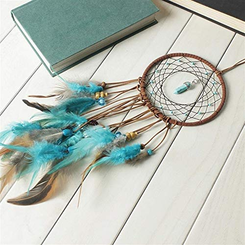 DUOER-wind chimes Handmade Dream Catcher Feather Colorful Living Room Garden Hanging Pendant Home Car Hanging Decor Dream Catcher Ornament (Color : Style 1) by DUOER-wind chimes (Image #3)