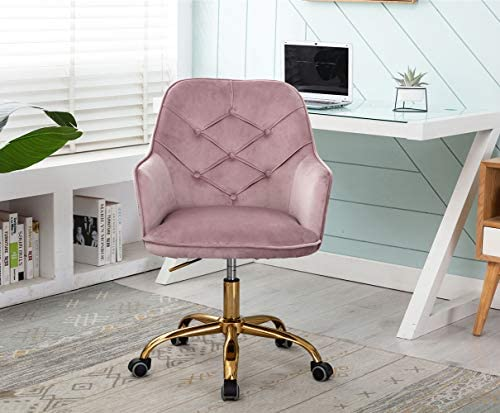 Velvet Swivel Home Office Desk Chair