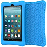 LEDNICEKER Case for All-New Fire 7 (2017 Release) - Light Weight Shock Proof Soft Silicone Kids Friendly Case for All New Fire 7 Tablet (7th Generation, 2017 Release), Blue