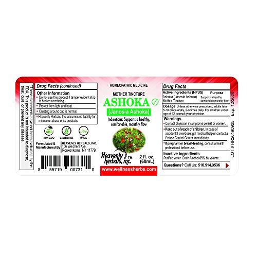 Ashoka Q - Mother Tincture - Janosia Ashoka - Saraca Indica - Traditional Uterine Tonic That Supports Healthy Menstruation - 2.0 fl oz, Made in USA
