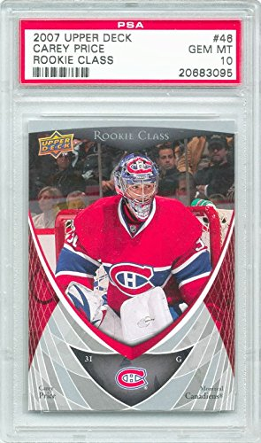 Upper Deck Rookie Class Card - 2007-08 Upper Deck Rookie Class Carey Price Rookie Graded PSA 10