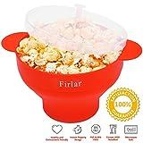 Firlar Microwave Popcorn Popper Sturdy Convenient Handles, Silicone Popcorn Maker