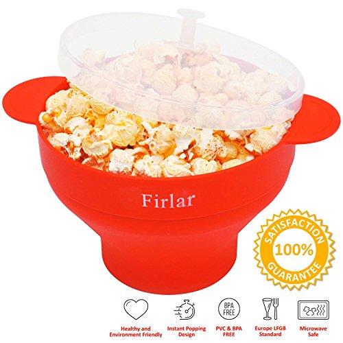 Firlar Microwave Popcorn Popper Sturdy Convenient Handles, Silicone Popcorn Maker (Hello Kitty Popcorn Machine compare prices)