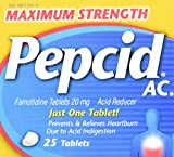 Pepcid Maximum Strength Tablets, 25 Count