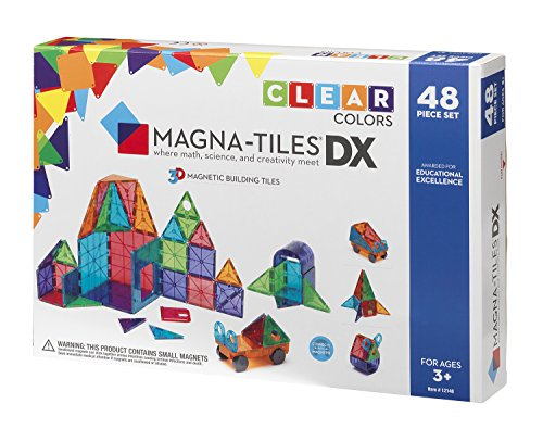 (Magna-Tiles 12148 Clear Colors 48 pc DX set)