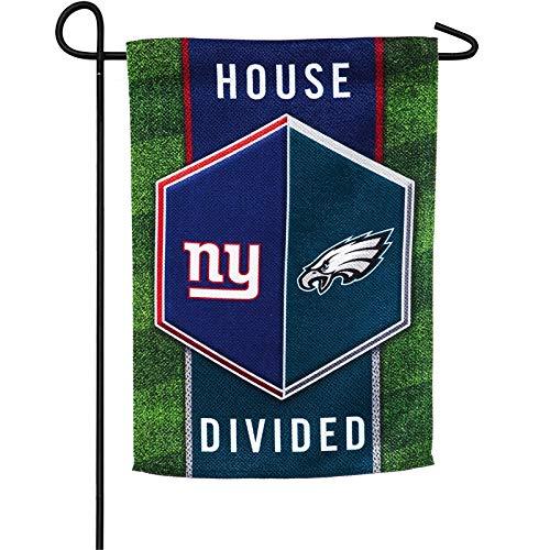 Team Sports America New York Giants vs Philadelphia Eagles House Divided Suede Garden Flag ()