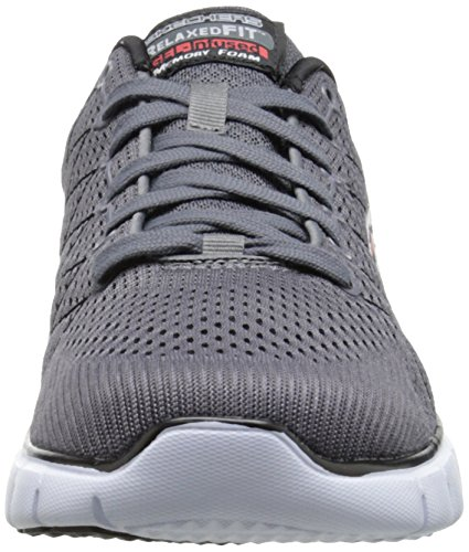 Skechers Skech-Flex, Men's Low-Top Sneakers Grau (Ccbk)