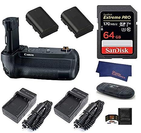 Amazon.com: Canon BG-E22 - Empuñadura de batería + tarjeta ...