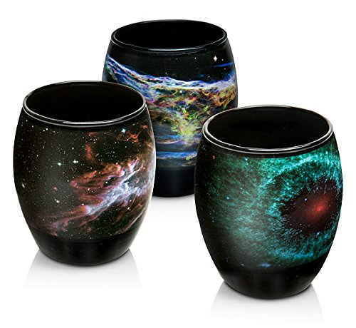 Nebula Glass Set With Images From Nasas Spitzer And And Hubble Space Telescopes