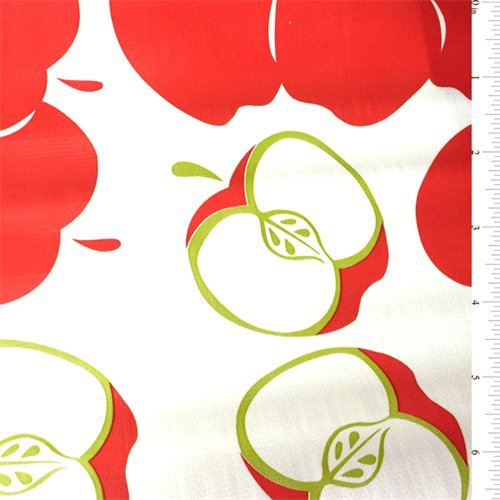 Apple Oilcloth, Fabric By the - Apples Fabric With