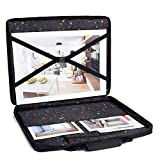 Art Portfolio Case - Waterproof Portfolio Folder for Artwork - Artist Zipper Carrying Bag with Storage for Drawing Photography or Poster - Large Size 19'' x 15''