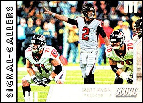 Atlanta Falcons Card Nfl Score - 2019 Score NFL Signal Callers #9 Matt Ryan Atlanta Falcons Official Football Card made by Panini