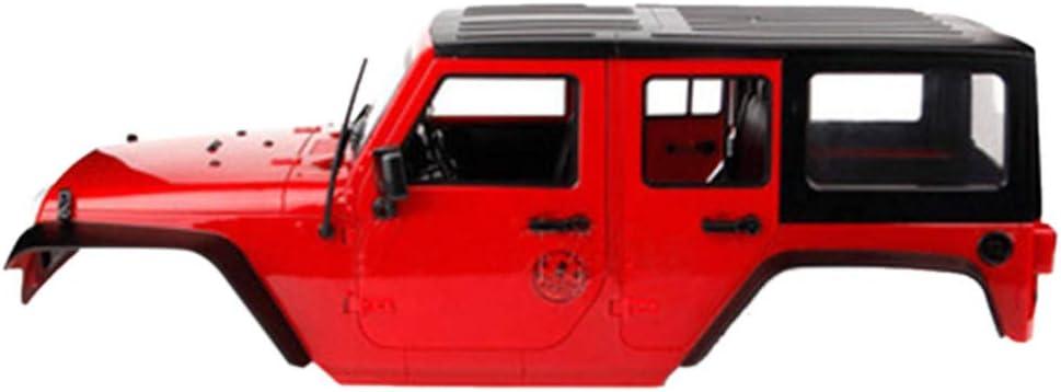 TwoCC Accesorios Rc,Modificado Distancia Entre Ejes Carcasa Dura 12.3In 313mm Carcasa del Coche con Cuerpo De Distancia Entre Ejes Para Wrangler Scx10 1/10 Rc Crawler(Rojo)