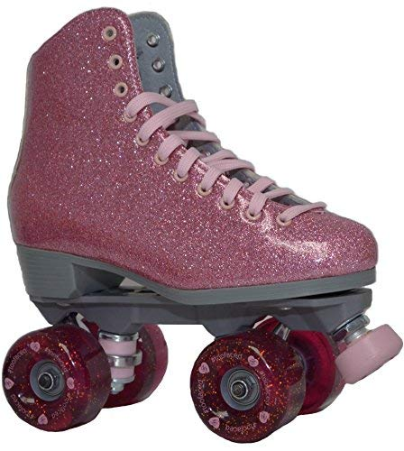 Sure-Grip Pink Shimmer Glitter Roller Skates - Limited Edition (Mens 9 / Womens 10-10.5)