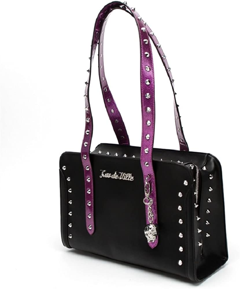 Lux De Ville 'Troublemaker' Purse Tote with Pointed Studs
