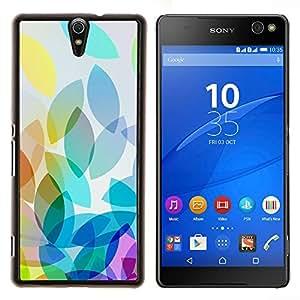 Eason Shop / Premium SLIM PC / Aliminium Casa Carcasa Funda Case Bandera Cover - Manzana colorida luz brillante Blanco - For Sony Xperia C5 Ultra