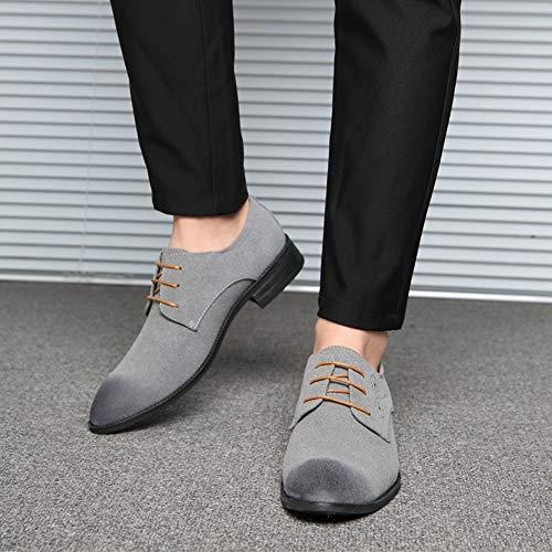 Oxford in Scarpe da NXY Pelle Pelle Scamosciata Grigio in Stringate Scamosciata Uomo Scarpe Classiche Scarpe TAEq5
