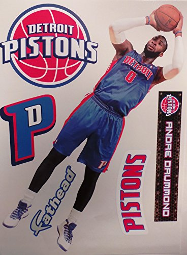 AD Detroit Pistons Logo Set Official NBA Vinyl Wall Graphics 17