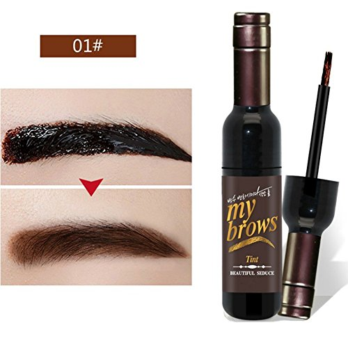 Hanyia Eyebrow Gel Peel Off Natural Tint Paint My Brows Enhancer Gel Wine Bottle Shape Waterproof Long Lasting Eye Brow Makeup Eyebrows Torn Dye Gel