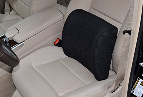 FLASH SALE! Ergonomically Designed Contoured Memory Foam Lumbar Cushion with Back Strap to Provides Healthy Lower Back Support. Free Replacement for any Damages.