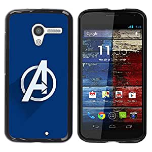 A-type Arte & diseño plástico duro Fundas Cover Cubre Hard Case Cover para Motorola Moto X 1 1st GEN I (Vengar Superheroes)