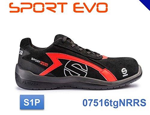 Sparco 0751639NRRS Zapatillas 39 Negro//Rojo