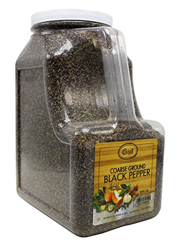 Gel Spice Coarse Ground Black Pepper - Food Service Size - 5 Lbs by Gel Spice