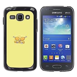 CASEX Cases / Samsung Galaxy Ace 3 GT-S7270 GT-S7275 GT-S7272 / Chicken Nugget Party # / Delgado Negro Plástico caso cubierta Shell Armor Funda Case Cover Slim Armor Defender