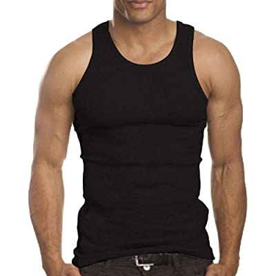 3/12 Pack Men's A-Shirt Tank Top Gym Workout Undershirt (Slim & Muscle Fit ONLY) at Men's Clothing store