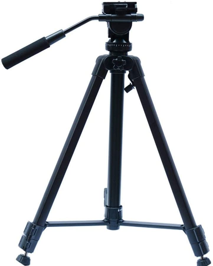 AiKuJia Tripod Outdoor Compact Aluminum Camera Tripod Monopod Suitable for Mobile Digital SLR Camera Travel and Work Lightweight Color : Black, Size : One Size