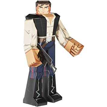 Star wars blueprint paper craft 12 figure han solo amazon star wars blueprint paper craft 12quot malvernweather Image collections