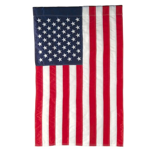 "Applique Stripes Flag (Evergreen Classic American Double-Sided Appliqué Garden Flag - 12.5""W x 18"