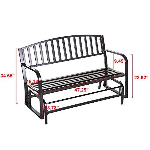 merax 50 u0026quot  outdoor patio swing glider bench chair metal