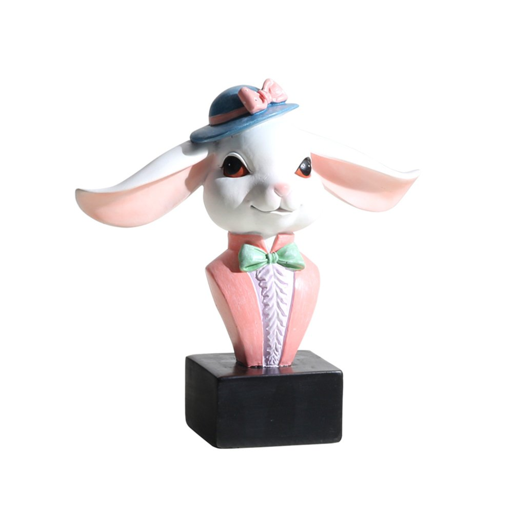 RockTrend Home Decor Desktop Accessory Adorable Animal Rabbit Shape Resin Eyeglasses Sunglasses Holder Spectacle Display Stand-Pink