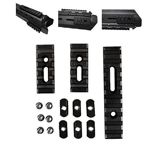 FIRECLUB 2019 Tactical Slotted Metal Made (NOT Plastic) Picatinny Section Kit Set for MOE Handguards