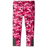 PUMA Big Girls' Active Legging Capri, Pink Camo, 12-14 (Large)