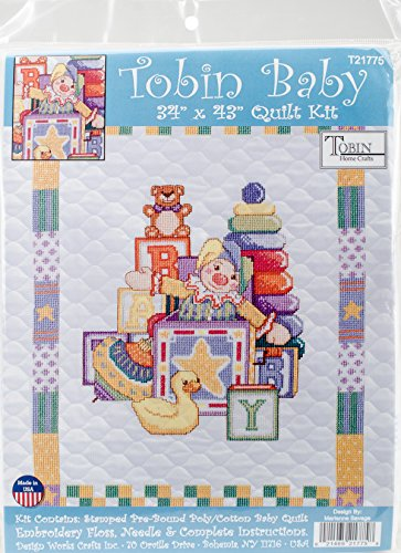 Tobin T21775 Toys Quilt Stamped Cross Stitch Kit-34